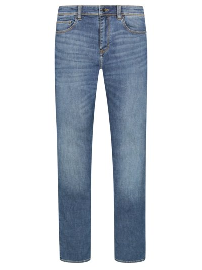 Jeansy 5 pocket z elastyczną domieszką, relaxed straight fit v DENIM