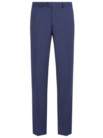 Formal trousers with pinstripe pattern v MARINE