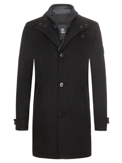 Casual jacket in a wool blend, Sanremo v BLACK