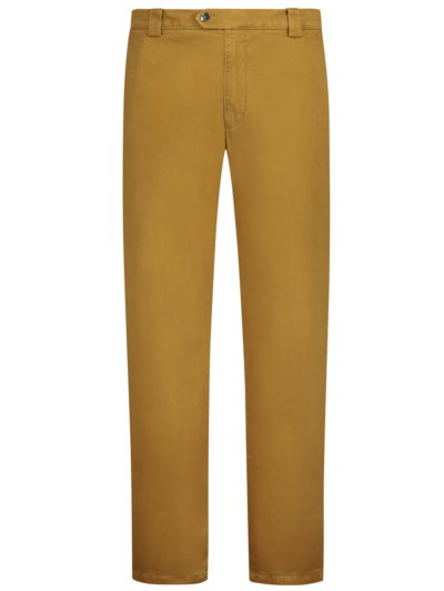 Cotton chinos with stretch content, Roma v COGNAC