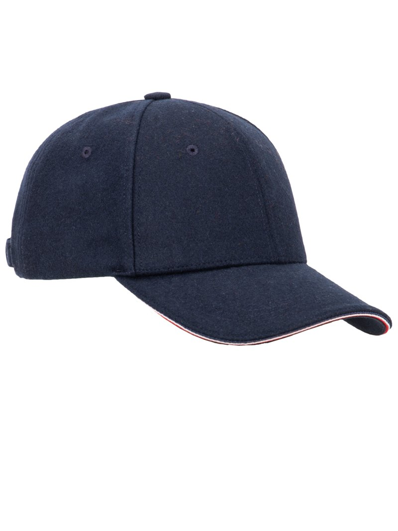 Tommy Hilfiger Wool blend cap MARINE in plus size