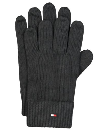 Gloves with cashmere content v BLACK
