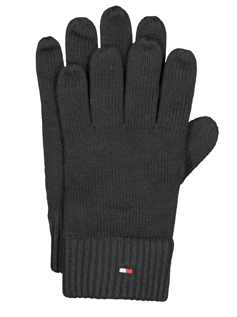 Tommy Hilfiger Gloves with cashmere content BLACK in plus size