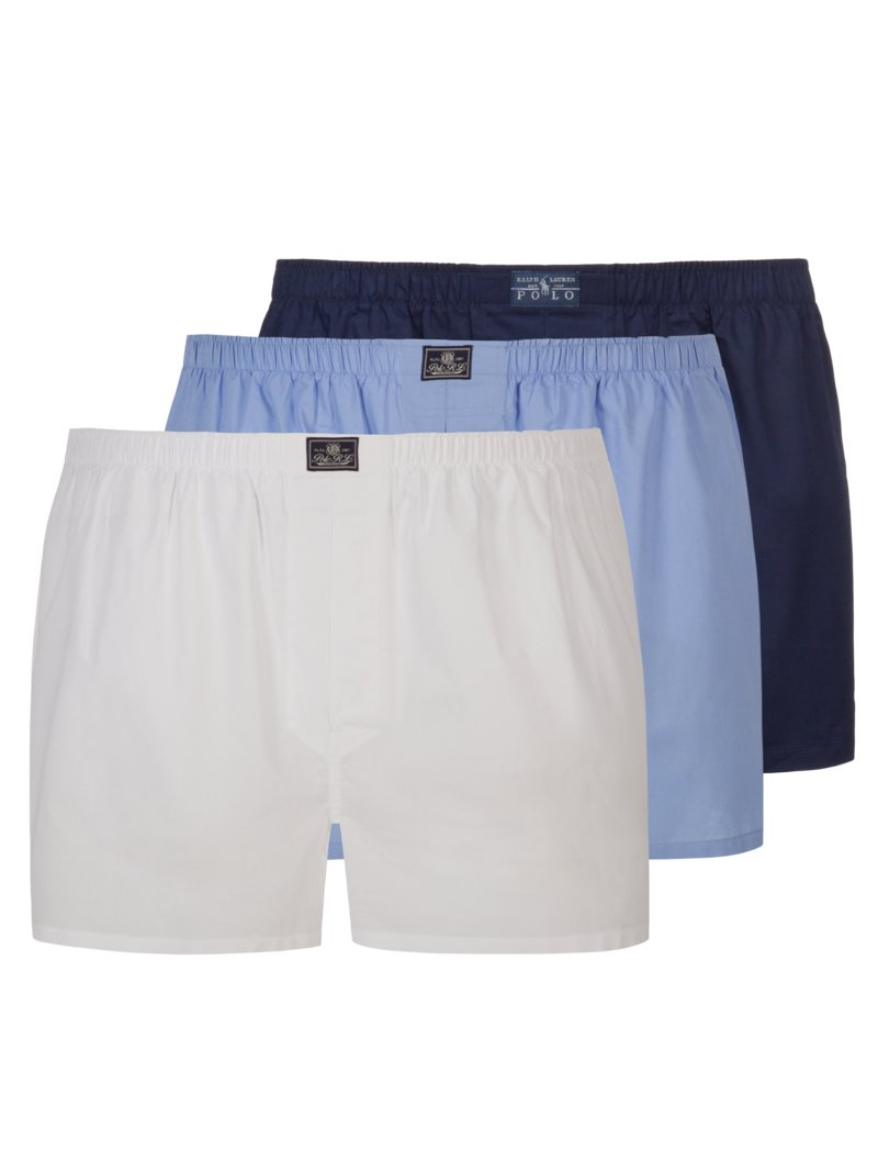 Polo Ralph Lauren 3-pack of boxer shorts, plain WHITE in plus size