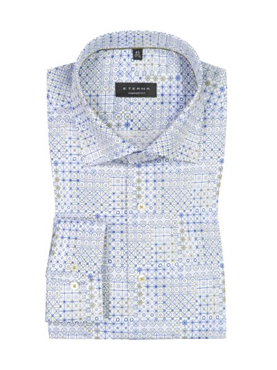 Shirt with stylish pattern, Comfort Fit v LIGHT BLUE