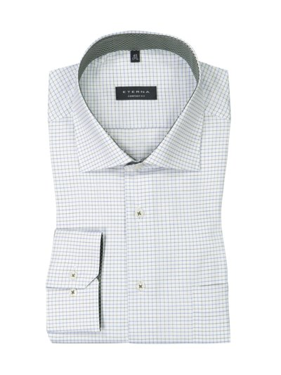 Shirt with stylish check pattern, extra long v WHITE