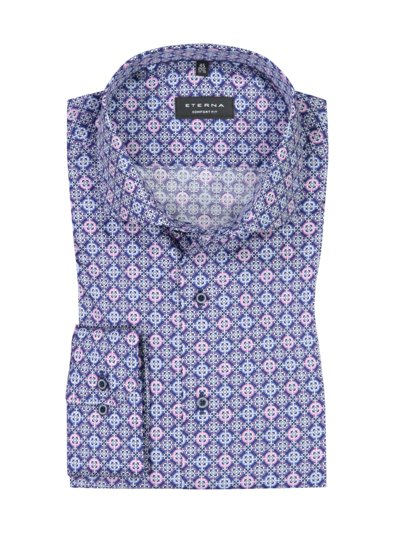 Formal shirt with patterned print v ROYAL