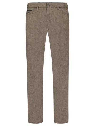 Five-pocket trousers in a wool look, Cadiz v BROWN