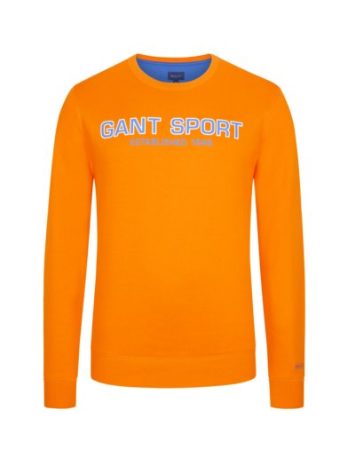 Sweatshirt mit Logo-Print in ORANGE