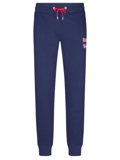 Jogging bottoms with logo patch v BLUE