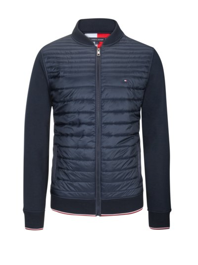Quilted-front sweater jacket v MARINE