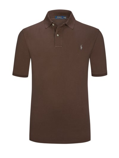 Pure cotton polo shirt v BROWN