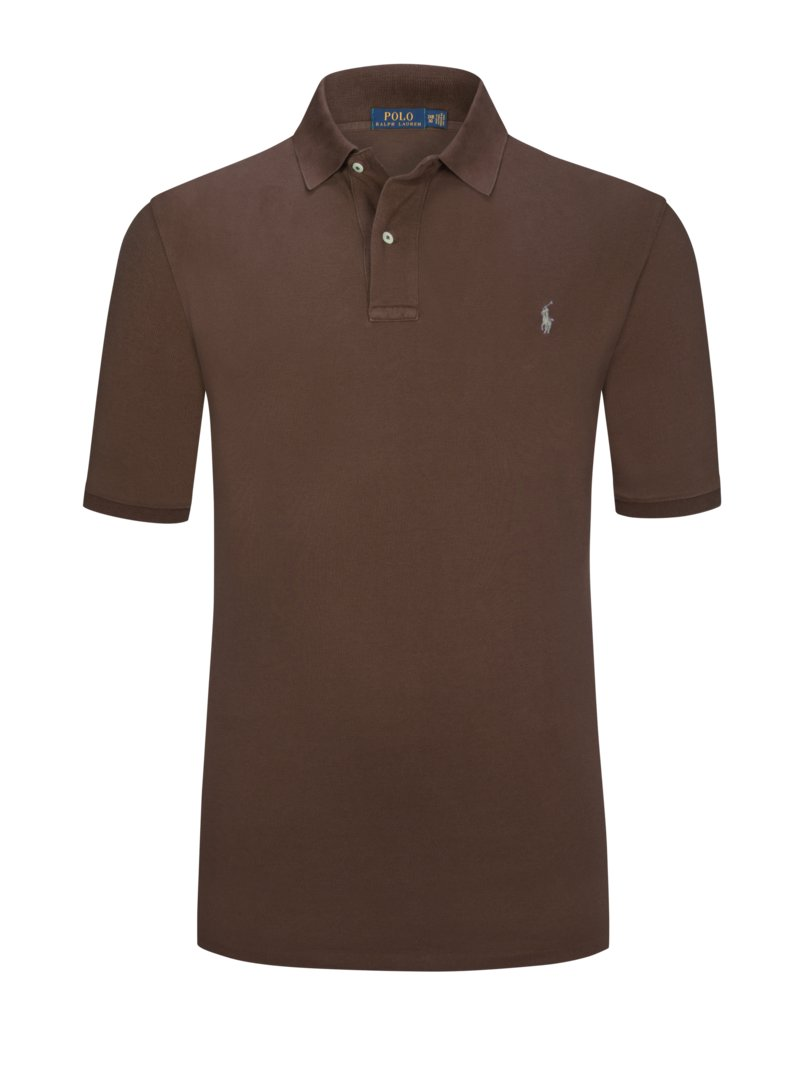 Polo Ralph Lauren Pure cotton polo shirt BROWN in plus size