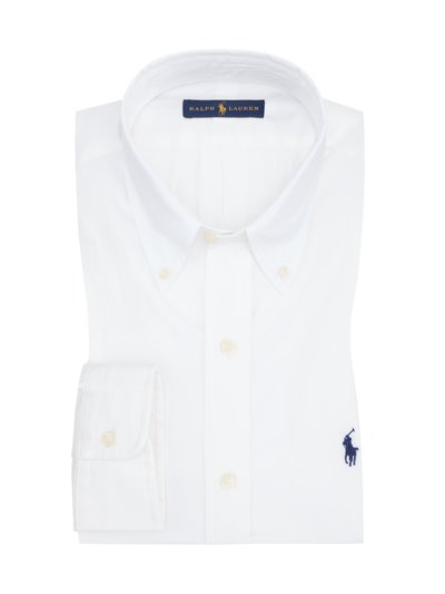 Shirt with embroidered polo rider v WHITE