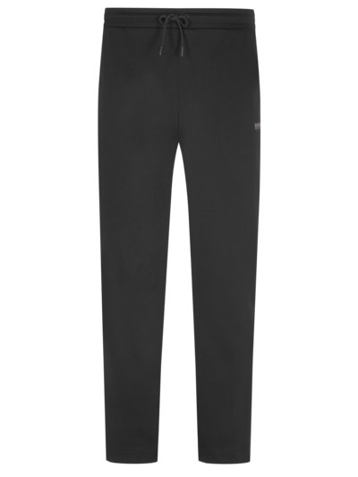 Jogging bottoms in a cotton blend v BLACK