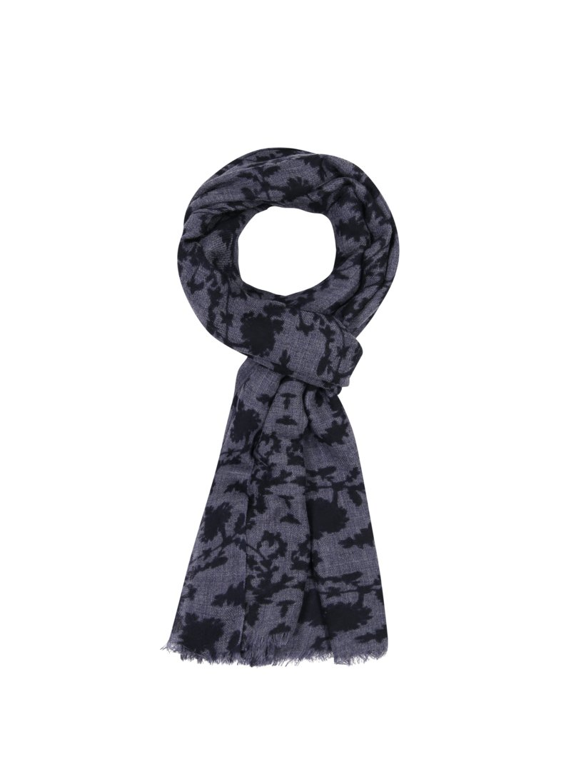 Altea Scarf with stylish pattern BLUE in plus size