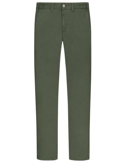 Stretch chinos with soft touch fabric v OLIVE-