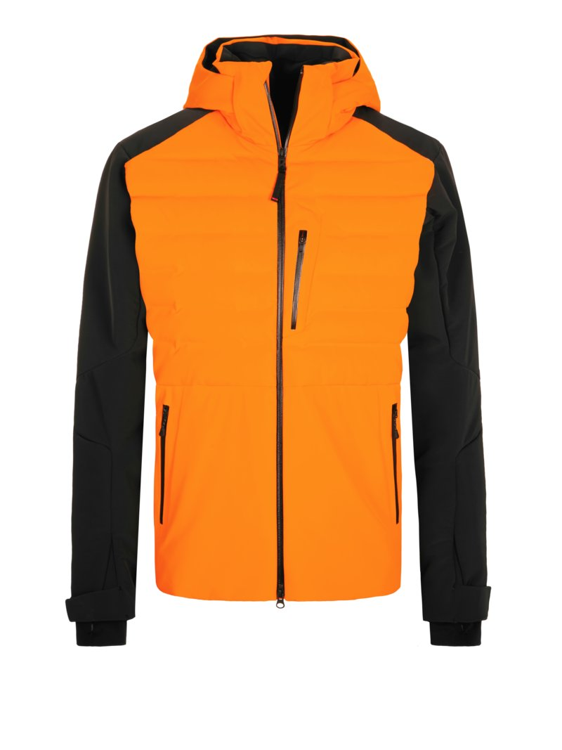 Fire+Ice Skijacke, Primaloft ORANGE in Übergröße