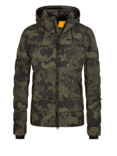 Skijacke mit Camouflage-Muster, Thermore in OLIV