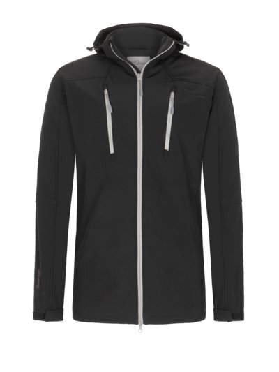 Softshell jacket with fleece lining v BLACK