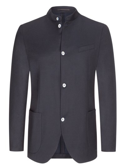 Blazer with standing collar v MARINE