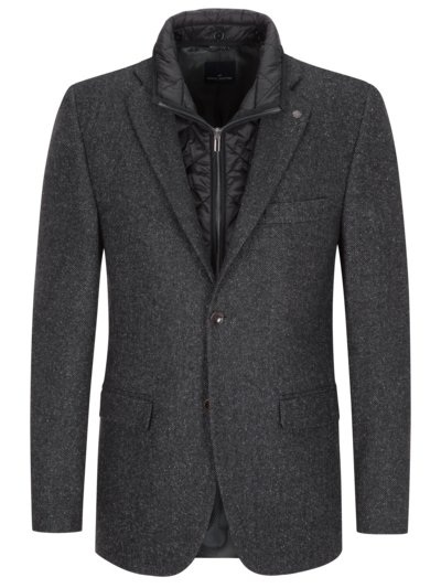 Blazer with silk content v ANTHRACITE