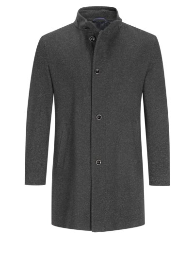Coat with a standing collar v ANTHRACITE