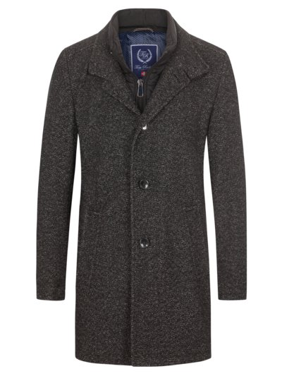 Coat with micro texture v ANTHRACITE