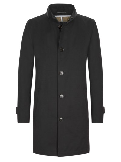 Coat with removable lining v BLACK