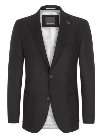 Blazer in a virgin wool blend v BLACK