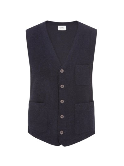 Vest in a light wool blend v MARINE
