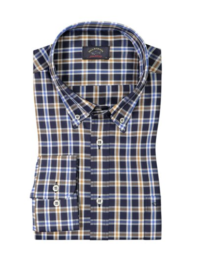 Checked shirt v BLUE