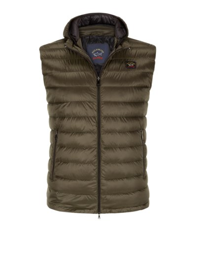 Quilted gilet with down lining v OLIVE-