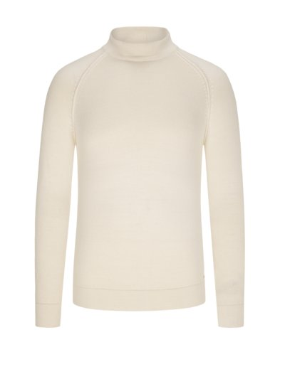 Sweater with standing collar v OFF WHITE