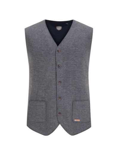 Gilet in a loden look v GREY