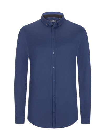 Shirt made of jersey in a cotton blend v BLUE