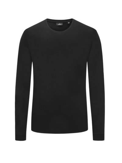 Sweatshirt, O-Neck in SCHWARZ