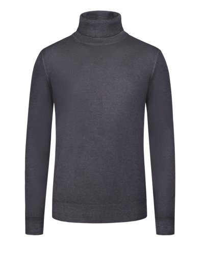 Turtleneck sweater in fine merino wool v ANTHRACITE