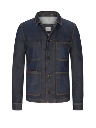 Jean jacket with stretch fabric v MARINE