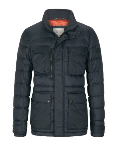 Field jacket with quilted pattern v BLUE
