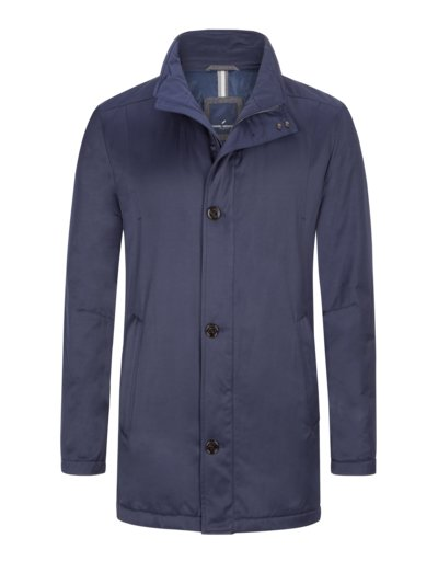 Casual jacket with standing collar v BLUE