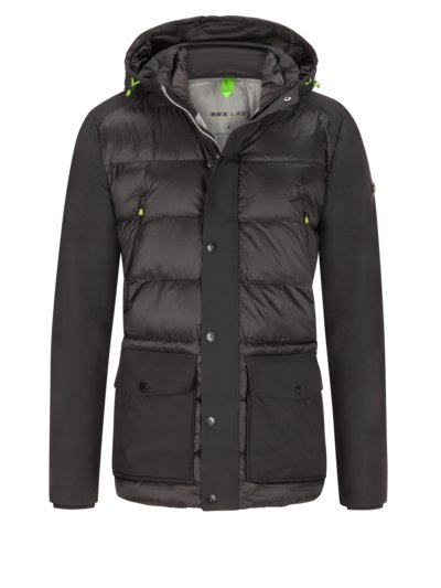 Stylish quilted jacket with Thinsulate lining, BRX Lab v BLACK