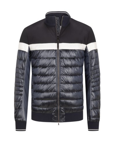 Quilted jacket in mixed materials v MARINE