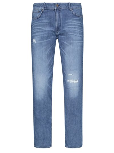 Washed-look denim jeans, Chuck, with Hi-Flex v BLUE