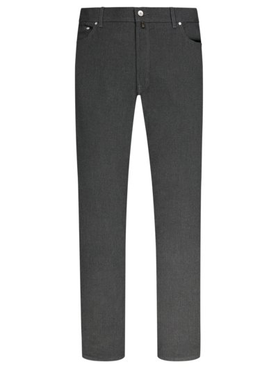 Five-pocket trousers with fineliner stripes, Voyage v GREY