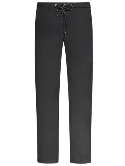 Stylish chinos with drawstring v BLACK