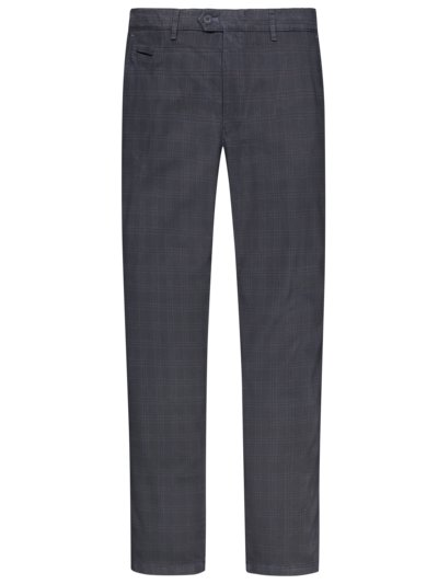 Chinos with check pattern v BLUE