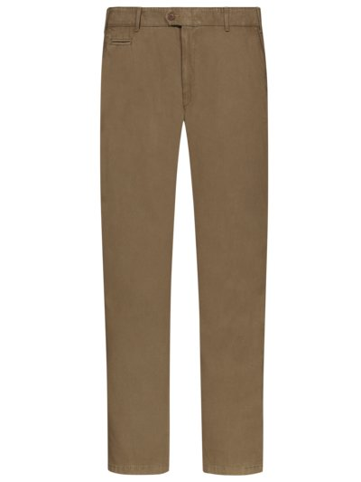 Chinos with micro pattern, Everest v BROWN