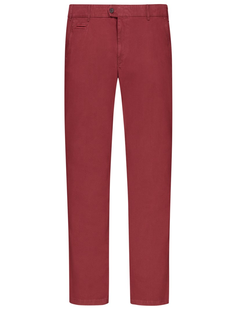 Brax Chinos with micro pattern, Everest RED in plus size