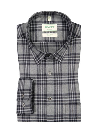 Shirt with checked pattern v GREY